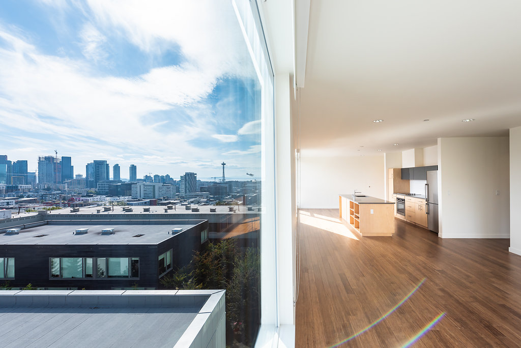 Open Concept Layouts With Ample Natural Lighting At Belroy Apartments In Seattle, WA