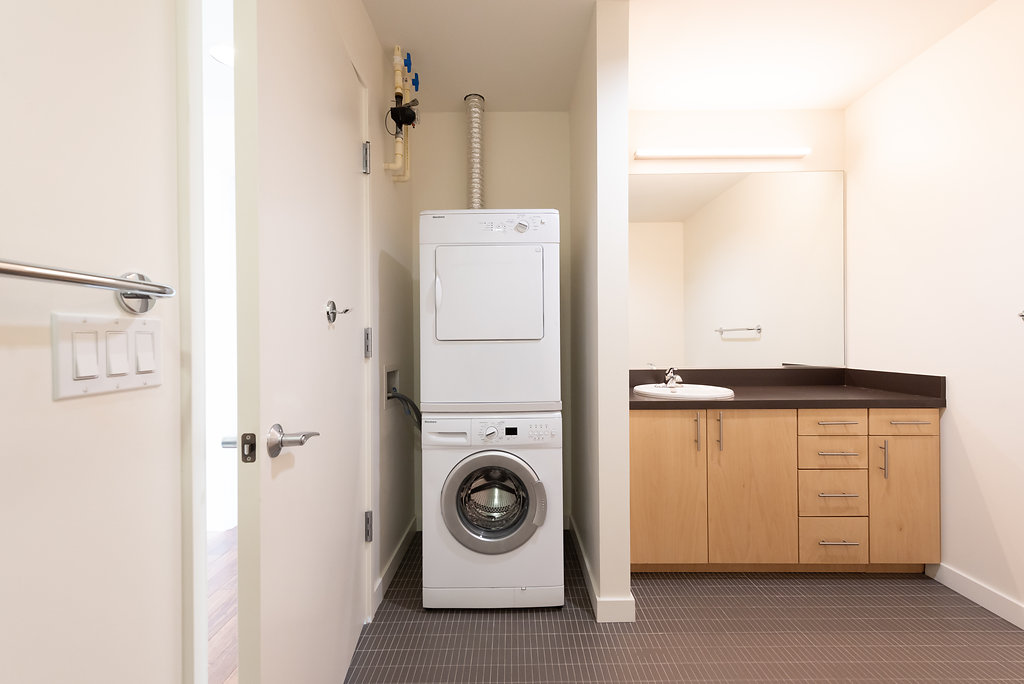 In-Unit Washer & Dryer Set At Belroy Apartments In Seattle, WA