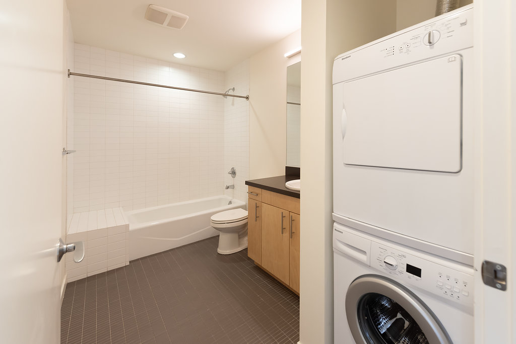 In-Unit Washer & Dryer Sets At Belroy Apartments In Seattle, WA