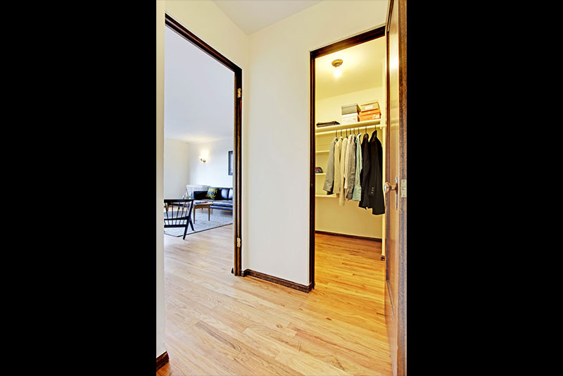 Spacious Apartment Closets At Belroy Apartments In Seattle, WA